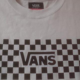 ヴァンズ(VANS)のタグ付きVANS白黒フラッグチェックロンTカットソー(Tシャツ(長袖/七分))