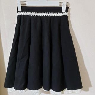 シークレットマジック(Secret Magic)のスカート 黒 裾ニット(ひざ丈スカート)