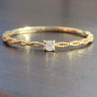 アガット(agete)のk18 ダイヤ リング(リング(指輪))