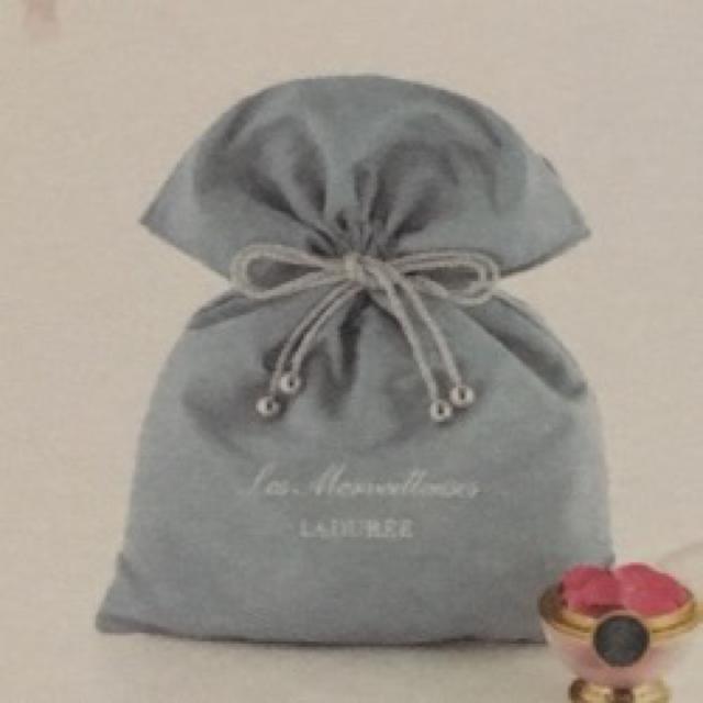 Les Merveilleuses LADUREE(レメルヴェイユーズラデュレ)のレ・メルヴェイユーズ ラデュレ 巾着 ノベルティ 未使用品 コスメ/美容のコスメ/美容 その他(その他)の商品写真