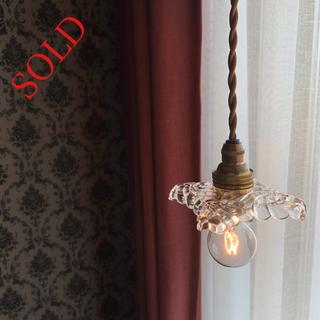 バカラ(Baccarat)のフランス オールドバカラ Baccarat ランプシェード アンティーク ランプ(天井照明)