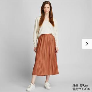 ユニクロ(UNIQLO)のランダムプリーツロングスカート  XL(ロングスカート)