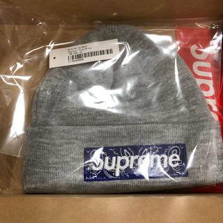 シュプリーム(Supreme)の灰 supreme  new era box logo beanie ビーニー(ニット帽/ビーニー)