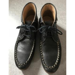 キャサリンハムネット(KATHARINE HAMNETT)の新品同様 定価17850円 キャサリンハムネット 牛革レザーブーツ メンズ(ブーツ)