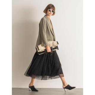 ミラオーウェン(Mila Owen)のチュールプリーツスカート(ロングスカート)