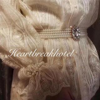 ロキエ(Lochie)の୨୧ Vintage rétro milky pearl bijou belt(ベルト)