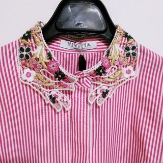 カルヴェン(CARVEN)のVIVETTA♡新品未使用♡刺繍衿つきシャツ(シャツ/ブラウス(長袖/七分))