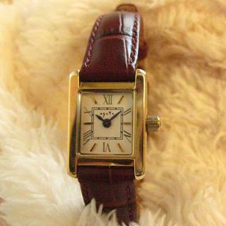 アガット(agete)の気まぐれ週末セール!【送料込・動作品】アガット★腕時計★ダイヤ1P★タンクタイプ(腕時計)