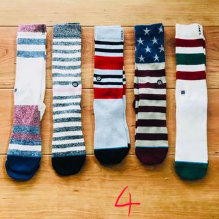 ヴァンズ(VANS)の5足ト stance socks スタンス ソックス  靴下 SMサイズ 4(ソックス)