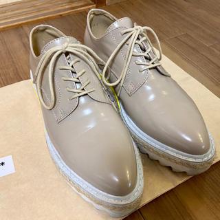 ジーナシス(JEANASIS)のジーナシス 厚底レースアップシューズ 24〜24.5㎝(ローファー/革靴)
