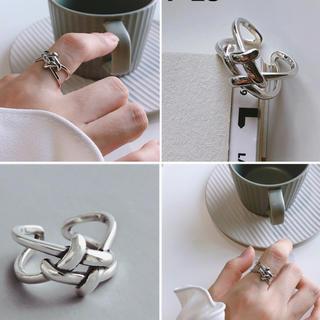アグリー(UGLY)のS925シルバーリング★スネークチェーンネックレスプレゼント(リング(指輪))