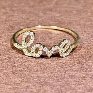 ラブリング ダイヤモンド k18  ダイヤモンドリング エタニティ(リング(指輪))