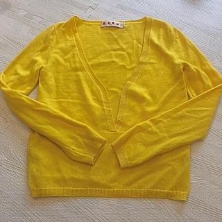 マルニ(Marni)のマルニ カシミヤトップス 黄色 38(ニット/セーター)
