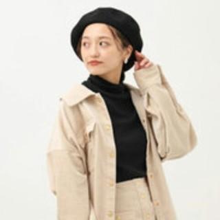 アースミュージックアンドエコロジー(earth music & ecology)のアースミュージックアンドエコロジー ベレー帽黒(ハンチング/ベレー帽)