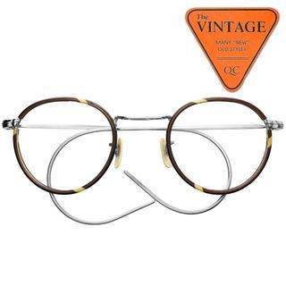 美品 英国製 ヴィンテージ セル巻き 丸メガネ イギリス ラウンド セルロイド(サングラス/メガネ)