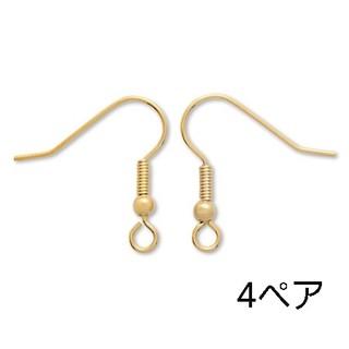 キワセイサクジョ(貴和製作所)のピアス 釣針 ゴールド 4ペア(各種パーツ)
