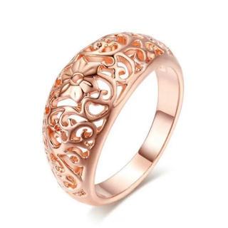 透かし彫り 彫刻 リング 指輪 ピンクゴールド (リング(指輪))