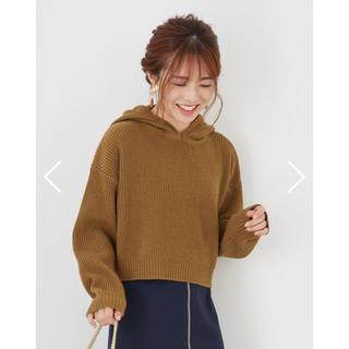 cohina  ショート丈ニットフーディー(ニット/セーター)