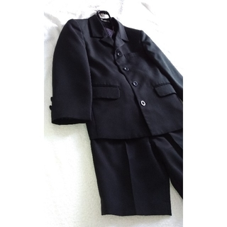男児 セレモニースーツ フォーマルスーツ 120 黒(ドレス/フォーマル)