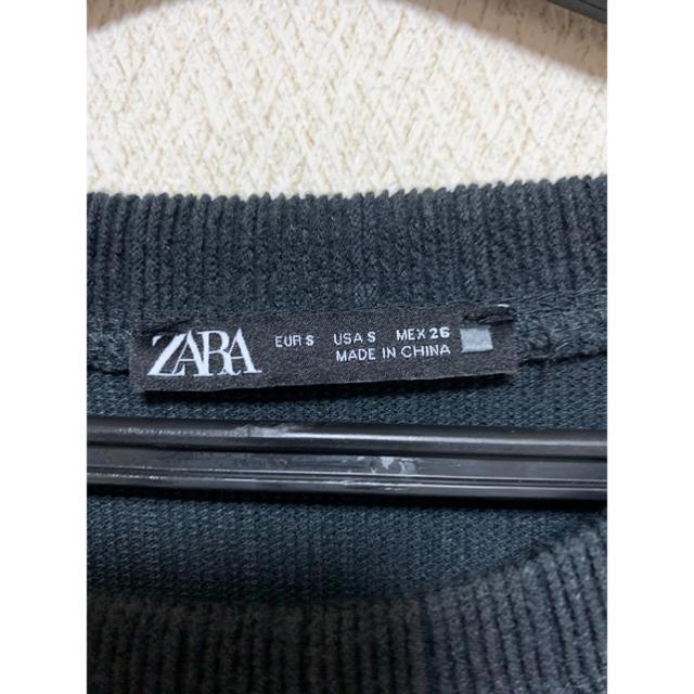 ZARA(ザラ)のトップス ZARA ザラ ショート丈 黒 グレー レディースのトップス(カットソー(長袖/七分))の商品写真