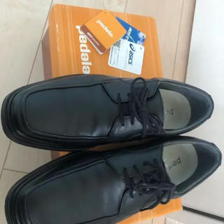 アシックス(asics)のペダラ 24cm 2E 革靴 pedala asics 最終値下げ(ドレス/ビジネス)