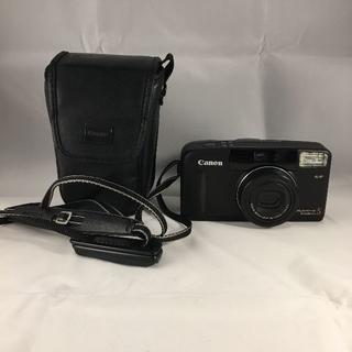 キヤノン(Canon)のCanon キャノン AutoboyS ブラック ケース付(フィルムカメラ)