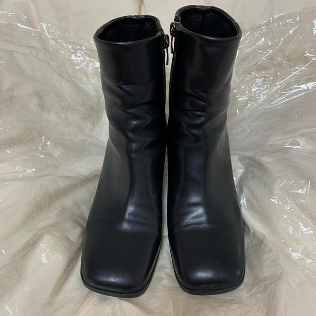 STYLENANDA(スタイルナンダ)の韓国 スクエアトゥ ブーツ レディースの靴/シューズ(ブーツ)の商品写真