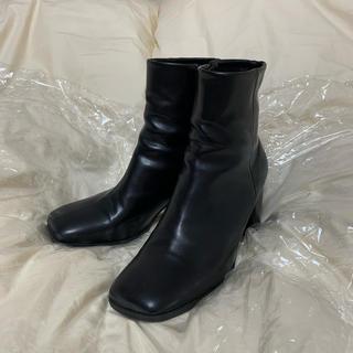スタイルナンダ(STYLENANDA)の韓国 スクエアトゥ ブーツ(ブーツ)