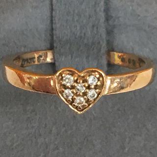 フォリフォリ(Folli Follie)のFolli Folli ダイヤモンド K10 ピンクゴールド ピンキー リング(リング(指輪))