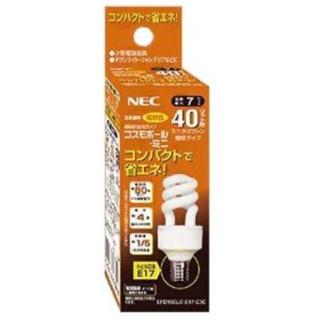 エヌイーシー(NEC)のNEC(エヌイーシー) 電球形蛍光ランプD形40W電球色(E17) EFD10…(蛍光灯/電球)