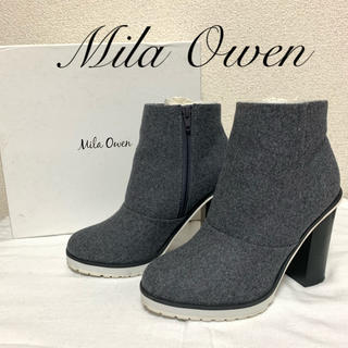 ミラオーウェン(Mila Owen)のMila Owen ミラオーウェン ショートブーツ 38(ブーツ)