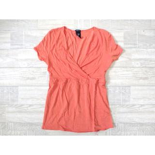ギャップ(GAP)の無地 シンプル カシュクールトップス GAP(Tシャツ(半袖/袖なし))
