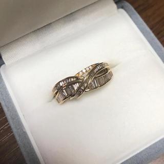 バケットカットダイヤモンドリング K18 YG(リング(指輪))