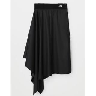 ハイク(HYKE)のHYKE x NORTH ラップスカート 黒 Mサイズ 新品(ロングスカート)