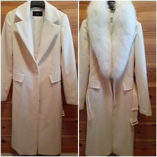 ピンキーアンドダイアン(Pinky&Dianne)のビッキー ファーコート 定価約10万 ブルーフォックス (毛皮/ファーコート)