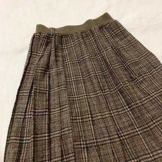 ロキエ(Lochie)のvintage チェック柄のプリーツレトロスカート(ひざ丈スカート)