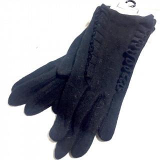 JILLSTUART - 新品 ジルスチュアート ブラック 黒 フリル ニット手袋
