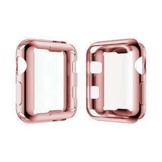 アップルウォッチ シリーズ 2/3  42mm 全面 保護  ピンク(腕時計(デジタル))