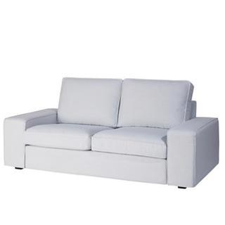 イケア(IKEA)のIKEA シーヴィク2人掛けソファーカバー ノールドヴァッラ ライトグレー(ソファカバー)