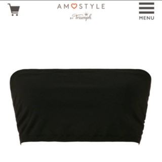 アモスタイル(AMO'S STYLE)のアモスタイル 新品 チューブトップ ブラック 黒(ベアトップ/チューブトップ)