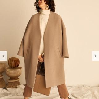ミラオーウェン(Mila Owen)のミラオーウェン  ノーカラーミドル丈コート (ロングコート)