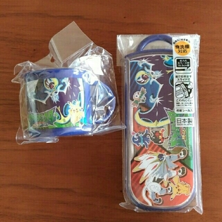 ポケモン - ポケットモンスター 箸、スプーン、フォークセット&コップ