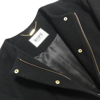 ロペ(ROPE)の美品 ロペ マドモアゼル ウールカシミアコート(ノーカラージャケット)