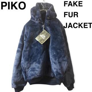 ピコ(PIKO)のPIKO フェイクファーパーカー ネイビー サイズM(パーカー)
