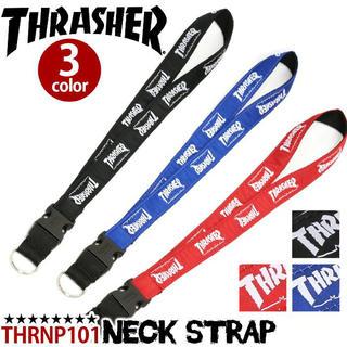 スラッシャー(THRASHER)のTHRASHER ネックストラップ ブラック×ホワイト(ネックレス)