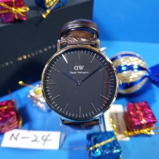 ダニエルウェリントン(Daniel Wellington)のN-24新品♥D.W.40mmメンズ♥BLACK YORK♥激安価格♥送料無料(腕時計(アナログ))