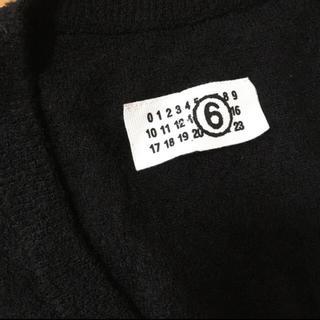 エムエムシックス(MM6)のMM6 マルタンマルジェラ 6 S ニット 黒 美品 デザイン 長袖 トップス(ニット/セーター)