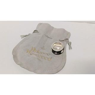 ヴィヴィアンウエストウッド(Vivienne Westwood)の廃盤 ヴィヴィアンウエストウッド キングリング 指輪 ブラック S(リング(指輪))