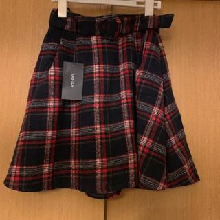 アベイル(Avail)の新品 アベイル チェック 秋冬 ウエストマーク ベルト フレア スカート S(ミニスカート)