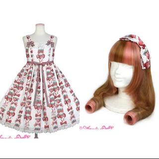 アンジェリックプリティー(Angelic Pretty)のAngelic pretty strawberry doll ジャンパースカート(ひざ丈ワンピース)